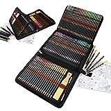 lapices colores profesionales,dibujos a lapiz con color y Herramientas de dibujo,96 kit para dibujar a lapiz perfecto para colorear libros y aulas.