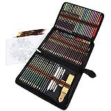 Lapices de Colores para Dibujo Profesional,Dibujo a Lapiz Set Artistico -Kit de 72 lápices de Colores para Colorear para Artistas y Estudiantes Amantes de colorar,Incluye Caja de Cremallera Portátil