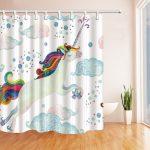 cortina unicornio ducha