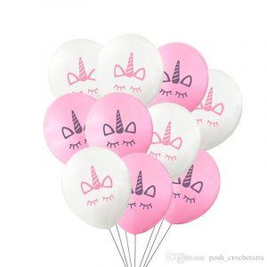 globos para fiestas con unicornios