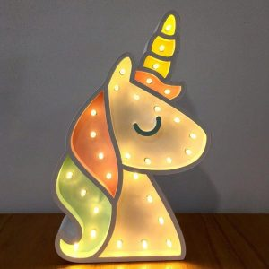 lampara LED unicornio
