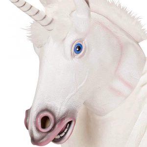 mascara cabeza de unicornio