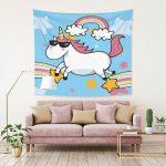 tapiz con unicornios
