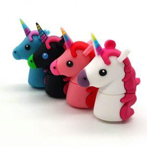 pendrives con diseño de unicornio