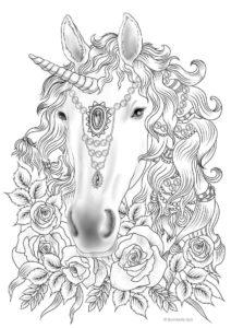 Dibujo de unicornio realista