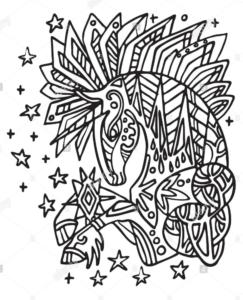Mandala de unicornios 1
