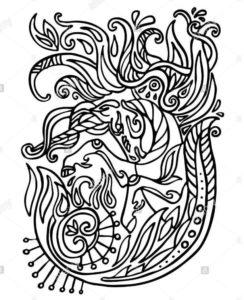 Mandala de unicornios 2