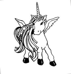 Mnadalas para colorear unicornios