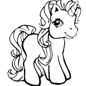 Dibujo para colorear de unicornios
