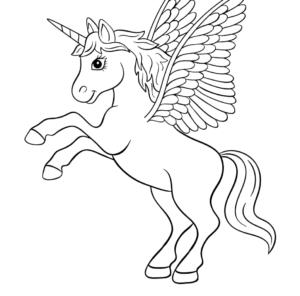 Unicornios para imprimir y colorear