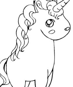 Dibujos kawaii para colorear de unicornios