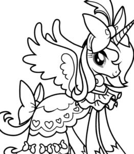 Dibujos para colorear de unicornios para imprimir