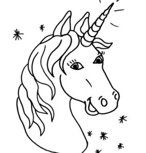 Dibujos para colorear de unicornios kawaii