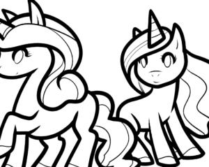 Unicornios para colorear imprimir